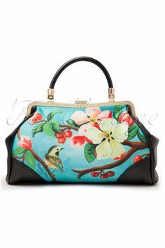 Woody Ellen - 50s retro Handbag Blossom