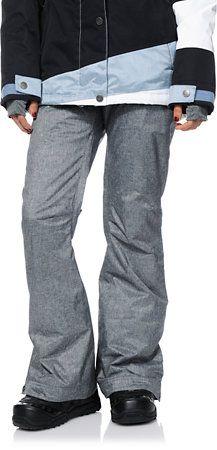 Roxy Nadia 2014 Grey Textile 10K Girls Snowboard Pants at Zumiez   PDP  Snowboarding Quotes 8b9ad52c4b
