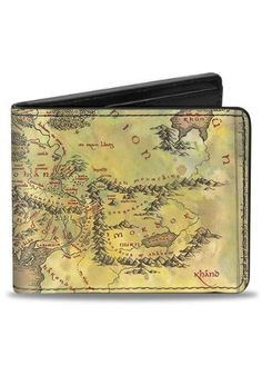 Middle Earth Map The Lord of the Rings Bi-Fold Wallet