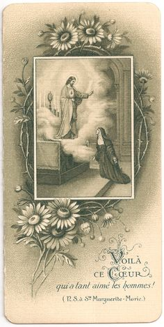Sacred Heart Apparition to St Margaret Mary