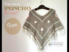 Poncho Fácil Tejido con cuadros / Tutorial Crochet | Todo crochet