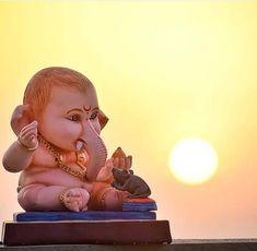 Worshipping Lord Ganesha is believed to be the best way to destroy vanity, selfishness and pride. Shri Ganesh Images, Ganesh Chaturthi Images, Ganesha Pictures, Shiva Art, Ganesha Art, Krishna Art, Lord Murugan Wallpapers, Shiva Lord Wallpapers, Lord Ganesha Paintings