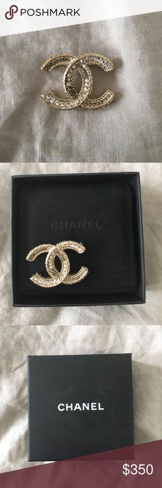 Authentic Chanel brooch - never worn! Never worn classic Chanel brooch, in original packaging CHANEL Jewelry Brooches