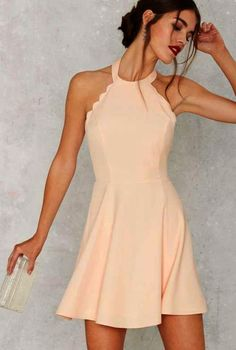 1dcefdb163 Homecoming Dresses 2018 Full Scallop Attack Flare Dress