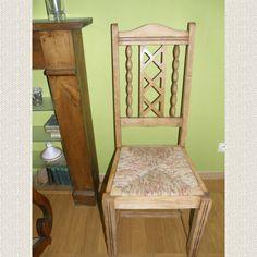 Chaise en paille enrobée d un tissu tr¨s actuel