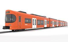 Die neue Mandarinli-S-Bahn für die schweizerische RBS; gestaltet von Tricon Design.