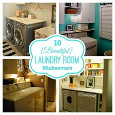 Round-Up Monday–10 {Beautiful} Laundry Room Makeovers | Fun Home Thingshttp://funhomethings.com/2015/01/round-up-monday-10-beautiful-laundry.html