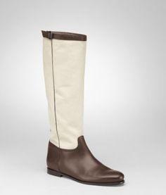 BOTTEGA VENETA - Shoes, Edoardo Naturale Reno Calf Canvas Boot