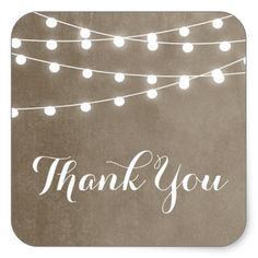 Summer String Lights Thank You Sticker