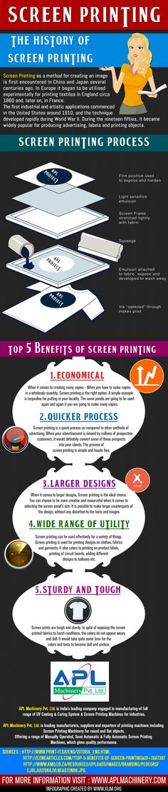 Screen Printing- Screen printing machine can be used in commercial and industrial business.