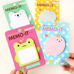 Practical Cute Bookmark Memo Pad Paster Stickers Sticky Notes Forest Animals