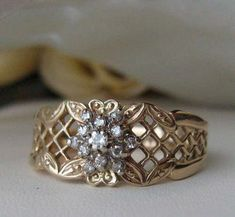 Vintage French design diamond ring