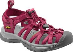 Womens Whisper Sandals by KEEN Footwear - From hidden coves to rushing rivers, the Whisper sandal from KEEN can manage any water-filled day.