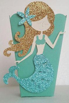 Mermaid Party Popcorn Boxes, Treat or favor boxes, Mermaid Birthday, Party Favors Mermaid Theme Birthday, Kids Birthday Themes, Girl Birthday, Baby Shower Party Favors, Birthday Party Favors, Birthday Parties, Bridal Shower, Mermaid Party Decorations, Mermaid Parties