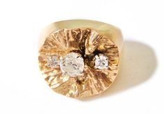 Vintage Ring  Lapponia Bjorn Weckstrom 24kt by ArtDecoAntiques, $2764.00
