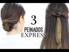3 peinados exprés fáciles y rápidos