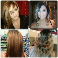 Hair #before #after #ombre