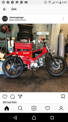 Honda Bikes, Honda Motorcycles, Cafe Racer Honda, Honda Cub, Pit Bike, Bike Handlebars, Motorcycle Bike, Bike Design, Vintage Bikes