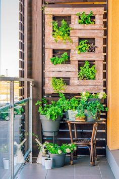These vertical herb garden ideas are awesome! Great ways to grow herbs and vegetables in a small garden, patio or balcony since it doesnt take up a lot of space. #fromhousetohome #herbgarden #verticalherbgarden #gardening #herbs  #vegetablegardening