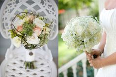 Queen Annes Lace Bridal Bouquets    hmm not sold on the one on the right...