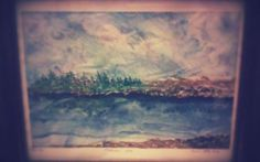 watercolor painting- MOVING SKIES - A View from Mooneys Bay,----SOLD