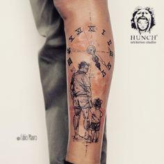 Padre e hijo... #tattrxartist #tattoolife #tattoodo #tattrx #inkedmag #inked #inkedup #colours #tattoo #tattoos #tatuaje #animal #painting #watercolour #blackandwhite #blackwork #tattoolookbook #tattooscute #tatuagio #girl