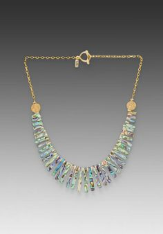 VANESSA MOONEY Bridget Black Necklace in Abalone - New