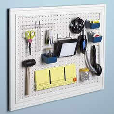 I like how the pegboard is framed around...gives it a nice finished look!