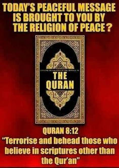 Crazy ain't it? Religion is sick.people need the kjv bible and christ.not no Quran that teaches to kill Anti Religion, Islam Religion, Moslem, Ban Islam, Political Ideology, The Knowing, Truth Hurts, Quran, Faith