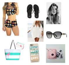 """Beach"" by alilyfe on Polyvore featuring Abercrombie & Fitch, Hayden Reis, Casetify, WithChic and Michael Kors"