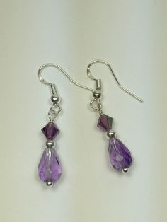 Amethysts drop earrings
