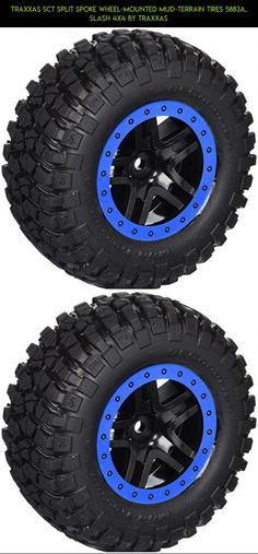 Traxxas SCT Split Spoke Wheel-Mounted Mud-Terrain Tires 5883A, Slash 4x4 by