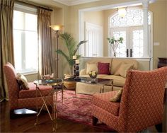 Transitional (Eclectic) Living & Family Room by Marisa Lupo & Luisa Maringola