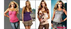 Krásne dámske tričká, tielka a topy v našom e-shope.