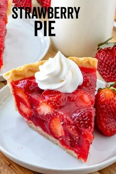 Easy, delicious and bursting with flavor this Strawberry Pie is an old-fashioned recipe that has minimal ingredients, intense strawberry flavor and absolutely addicting. Desserts Strawberry Pie - The Most Addicting Pie Ever Dessert Dips, Pie Dessert, Strawberry Cream Cheese Pie, Strawberry Pie With Jello, Stawberry Pie, Baked Strawberry Pie Recipe, Strawberry Tarts, Cherry Slab Pie Recipe, Sour Cream Lemon Pie Recipe