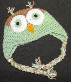 Custom Crochet Owl Hat
