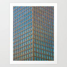 Canary Wharf  Abstract Art Print by David Pyatt - $16.99