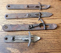 Choice vintage rustic barn door or gate latch original Gate Latch, Blacksmith Projects, Star Cast, Rustic Barn, Blacksmithing, Metal Art, Hardware, Buy And Sell, Iron