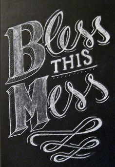 Chalk lettering.