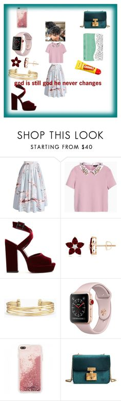 """""""happy Sunday"""" by markesiakennedy ❤ liked on Polyvore featuring Chicwish, Max&Co., Yves Saint Laurent, Stella & Dot and Carmex"""