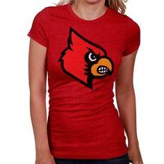 #FANATICS My U Louisville Cardinals Ladies Sketch It Out T-Shirt - Red
