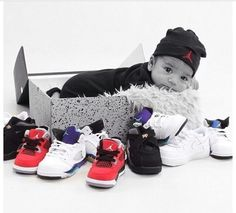 Baby Jordans, I'm sooo doing this if I have another boy!
