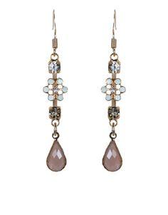 Classic Rose Short Drop Earrings