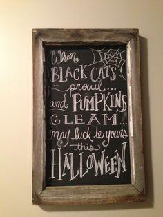 Halloween chalkboard art!