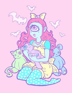 Cyclops Girl 8.5x11 art print by MagicalTeaTime on Etsy, $10.00