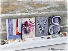 I have always love these and wanted one...  Alphabet Photography LOVE 4 Photo Letters Framed by FrittsCreative, $29.00