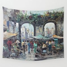 Wall Tapestry - Art Tapestry 51x60 / Impressionism / Large Wall Art Wall Hanging #ExclusiveCustomDesignCustomMade #WallTapestryWallHanging