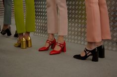 Prada AW15, Dazed backstage, Milan, Womenswear, mary janes