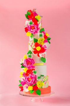 Love! Neon Wedding Cake