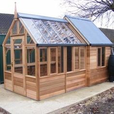 Shed-greenhouse combination - might also be a good design for a greenhouse with attached chicken coop.